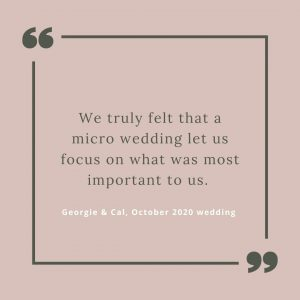 Quote from micro wedding couple about their day