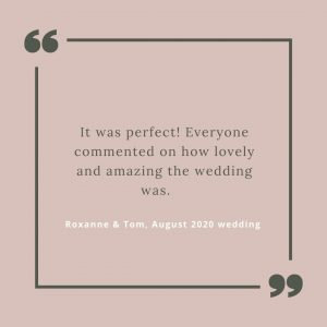 Quote from couple getting married under micro wedding covid restrictions